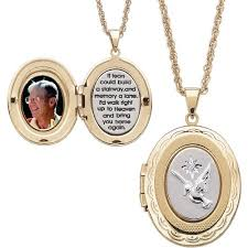 necklace with locket images Two tone memorial 14kt gold plated locket pendant 20 quot jpeg