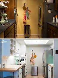 Galley Kitchen Makeovers Before And After Diy Kitchen Galley Normabudden Com