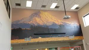 wall mural install green mountain coffee roasters washington wall mural install green mountain coffee roasters
