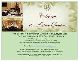 holiday lunch invitation windsor arms hotel windsorarms twitter