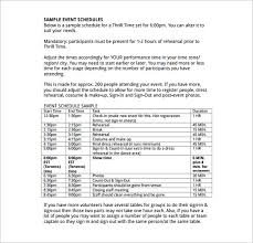 event schedule templates u2013 14 free word excel pdf format