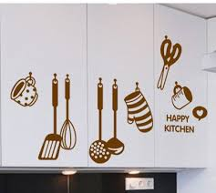 Wall Stickers For Kitchen by Happy Kitchen Wall Stickers For Tableware U0026kitchen Wall Decoration