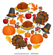 happy thanksgiving day card design stock vector 309183815