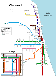 Chicago Loop Map by File Chicago L Map Svg Wikimedia Commons