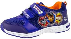 paw patrol light up sneakers paw patrol flashing light up trainers lightweight easy touch
