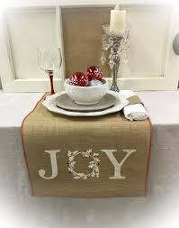 Holiday Table Runners by Burlap Table Runner 16 Or 18 Wide With Joy And A