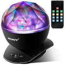 musical holiday light show timer upgraded version soaiy soothing aurora led night light projector