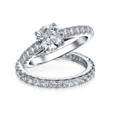 wedding ring sets for wedding bridal cz solitaire engagement wedding ring set