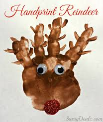 handprint reindeer christmas craft for kids paint project loversiq