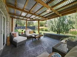 Design Ideas For Suntuf Roofing Using Clear Laserlight Roofing The Pergola Deck Lets In The