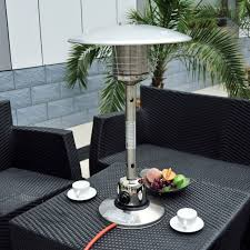 Table Top Gas Patio Heater Outsunny 4kw Table Top Gas Patio Heater Stainless Steel Garden