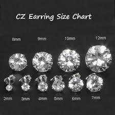 cubic zirconia stud earrings 925 sterling silver brilliant cut clear cz stud earrings in