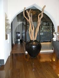 Large Wood Floor Vase Travel