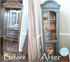 reclaimed wood curio cabinet curio make over outdated no more lose the mirror so eighties add