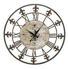 large metal clock roman numerals unique wall clock