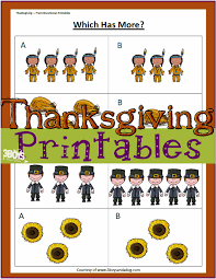 thanksgiving printables greater than less than worksheets u2013 3