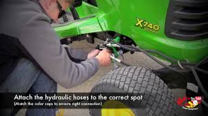how to attach a john deere 47