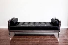 White Leather Benches White Leather Tufted Bench Ottoman Gold Frame Modern Event Rental