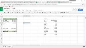 Google Docs Budget Spreadsheet by Google Spreadsheet Budget 101 004 Youtube