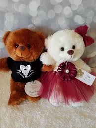 flower girl teddy gift flower girl and ring bearer teddy gift set with two 11inch