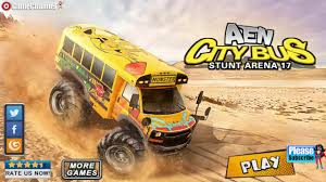 monster truck video game play aen city bus stunt arena 17 4x4 monster truck stunt android
