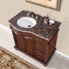 Silkroad Exclusive HYPBBUWCL Victoria  Left Side - Elements 36 inch granite top single sink bathroom vanity