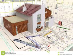 house layout and architectural drawings stock illustration image