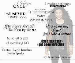 tattoo u0027 lyric brushes by daydream believer on deviantart