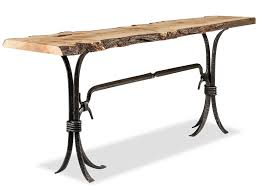 Small Sofa Table Live Edge Furniture Collection Abner Henry Fine Furniture