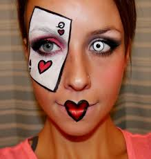 halloween series 2012 queen of hearts makeup tutorial youtube