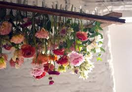 How To Make A Fake Chandelier Diy Project Hanging Floral Chandelier U2013 Design Sponge