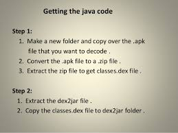 how to convert zip to apk extracting source code of apk file