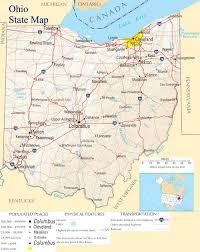 State Of Ohio Map by Ohio State Map A Large Detailed Map Of Ohio State Usa