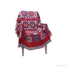 jeter un canapé harson aztec style jacquard pompon jeter couverture canapé