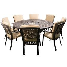 Round Garden Table With Lazy Susan by Garden Furniture 8 Seater Interior Design