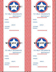 captain america birthday party printables chaos served daily