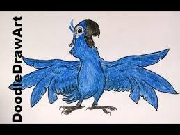 drawing draw blu rio step step