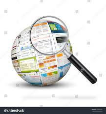 sphere web design template imprints magnifying stock illustration