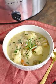 cooker turkey dumpling soup mildly meandering