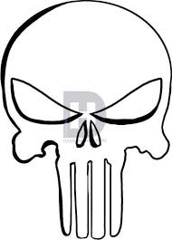 how to draw the punisher skull by drawing guide by