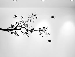 innovative stencils tree branches with leaves and love birds