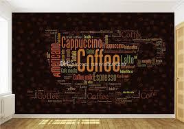 wallpaper coffee design coffee letters wallpaper custom 3d wall mural fashion photo