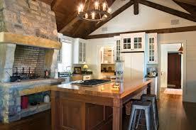 Kitchen Rustic Design Kitchen Design Fireplace In Kitchen Design Rustic Farmhouse