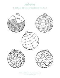 christmas ornament coloring pages u2014 mad u0026 dusty