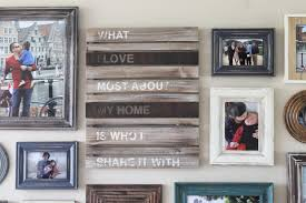 Picture Wall Collage by Make It Cozee Living Room Progress Rustic Frame Collage