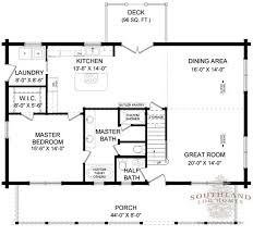 coosa log home plan by southland log homes