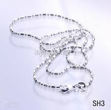 cheap silver necklace chains images 925 sterling silver 16 inch necklace chain solid bead women girl jpg