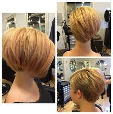 back views of short wedge haircuts short stacked wedge haircut