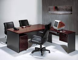 furniture large l shaped office table with black drum desk l Office Table L