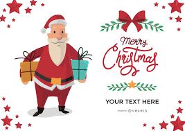 santa greeting card maker editable design